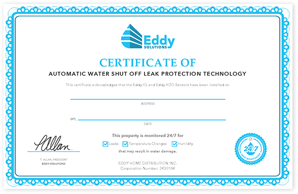Eddy Solutions Protection Certificate